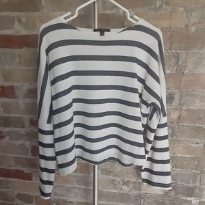 Banana Republic Black & White Striped Top